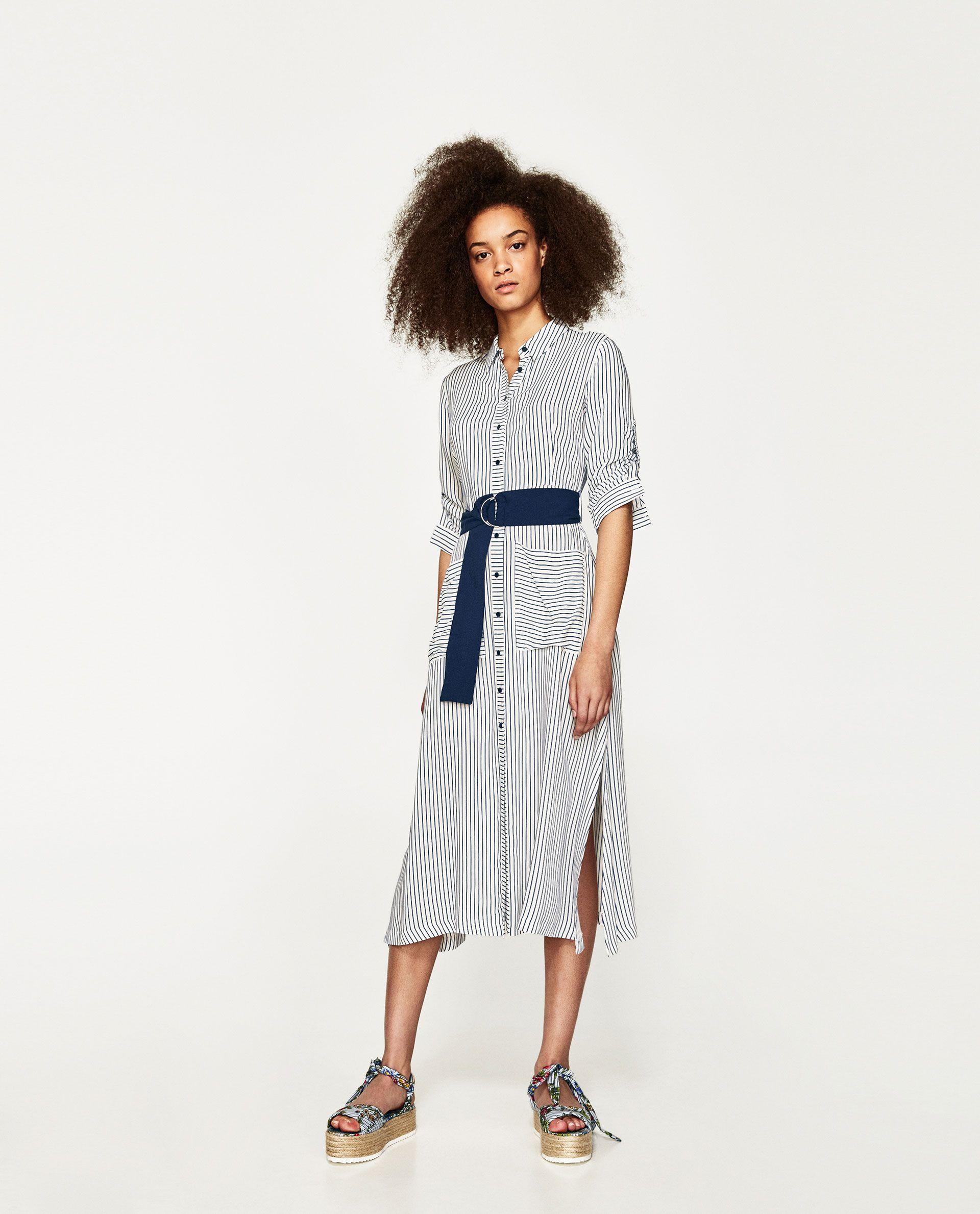 d41ee70c TÚNICA LARGA RAYAS | Looks I Love | Striped midi dress, Striped ...