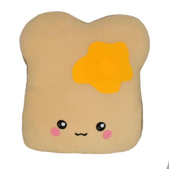 BIG toast pillow / soft and cuddly kawaii plushie by Plusheez