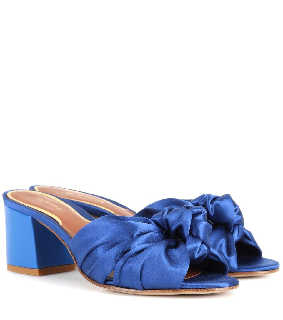 Etro Satin Crossover Sandals free shipping with paypal supply online OcRSgeKGne