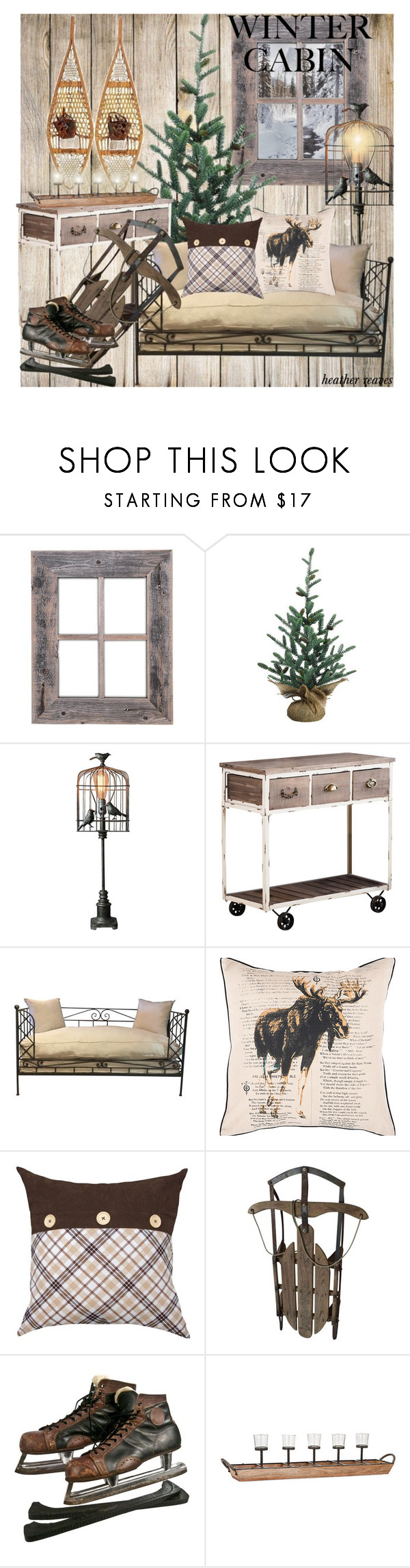 """Winter Cabin"" by heather-reaves ❤ liked on Polyvore featuring interior, interiors, interior design, home, home decor, interior decorating, Universal Lighting and Decor, Dot & Bo, Colordrift and wintercabin"