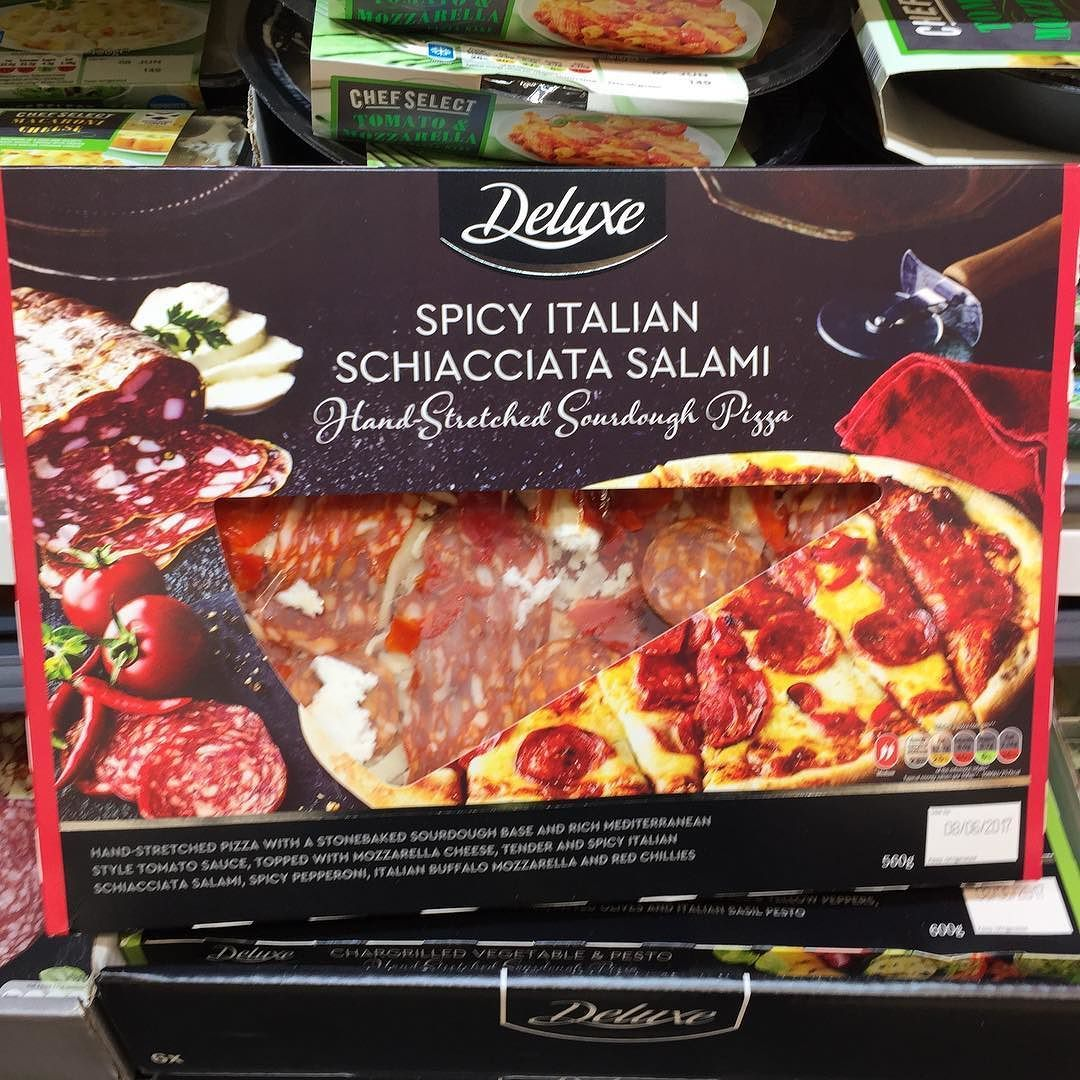 Lidl Is Stepping Up Its Pizza Game In The Uk With Some Sourdough Premium Offerings Foundonshelf Lidl Food Sourdough Mozarella Cheese