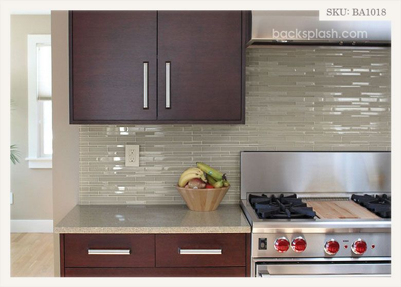 Light Brown Color Glass Brick Mosaic Tile Backsplash Com Kitchen Backsplash Designs Kitchen Backsplash Trends Contemporary Kitchen