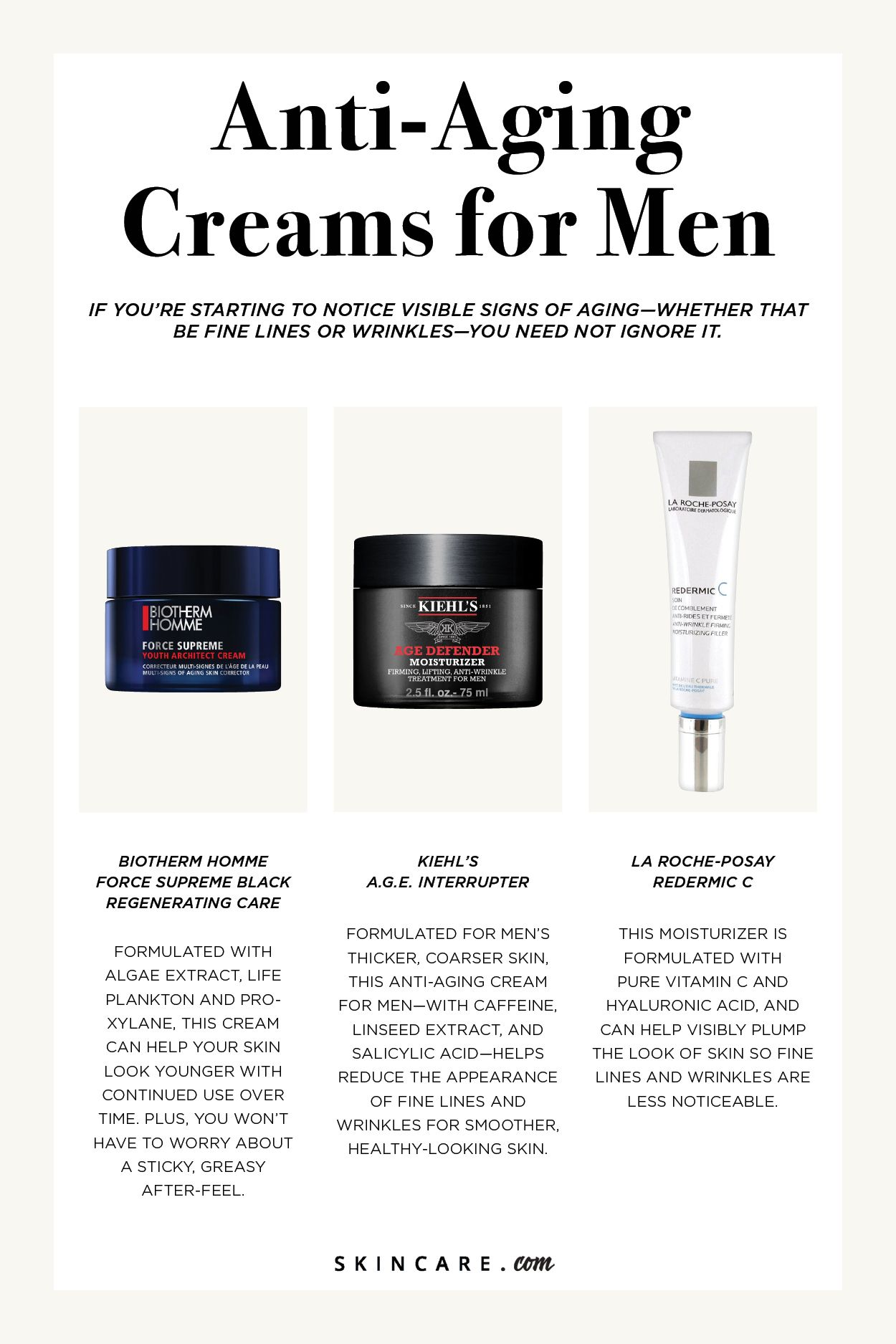The 8 Best Anti Aging Creams For Men To Turn Back Time Skincare Com By L Oreal Anti Aging Cream Anti Aging Skin Products Best Anti Aging Creams
