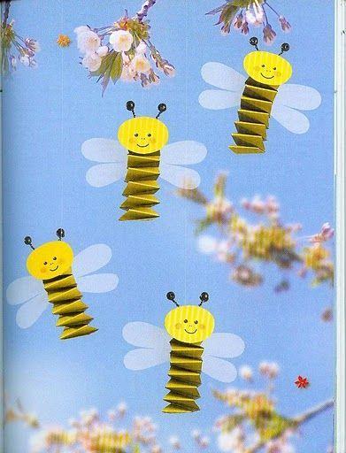 Werken Biene Aus Hexenbrücke Bastel Mit Kleinkindern Pinterest