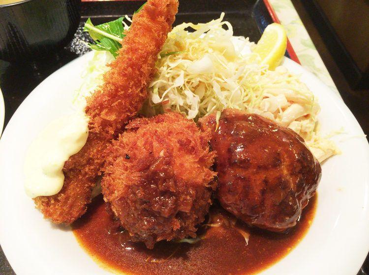 グリルロンの最強cセットはハンバーグ エビフライ カニクリームコロッケ グリル ロン 阪急三番街店 Ron 食べ物のアイデア おいしい食べ物 美味しいご飯