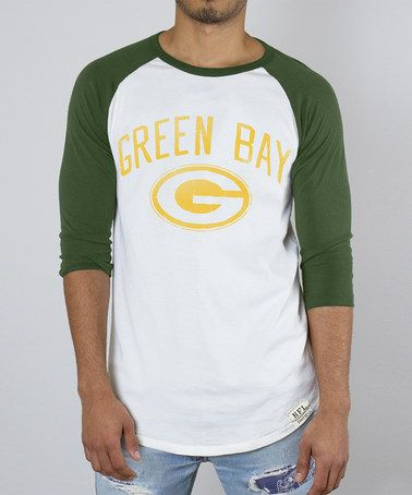 Look at this  zulilyfind! Green Bay Packers Raglan Tee - Men by Junk ... 090031a0179b8