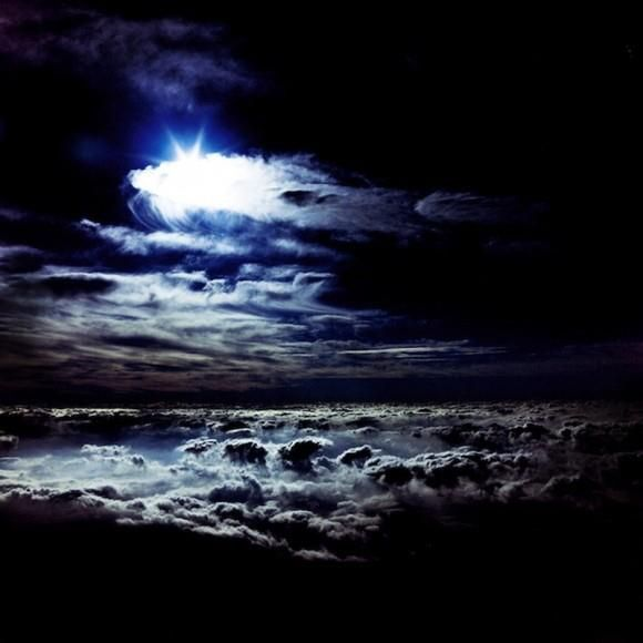 Seeing the moon Through an Airplane Window.