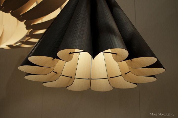 Lora wood pendant lamp by Weplight at the 2011 International Contemporary Furniture Fair