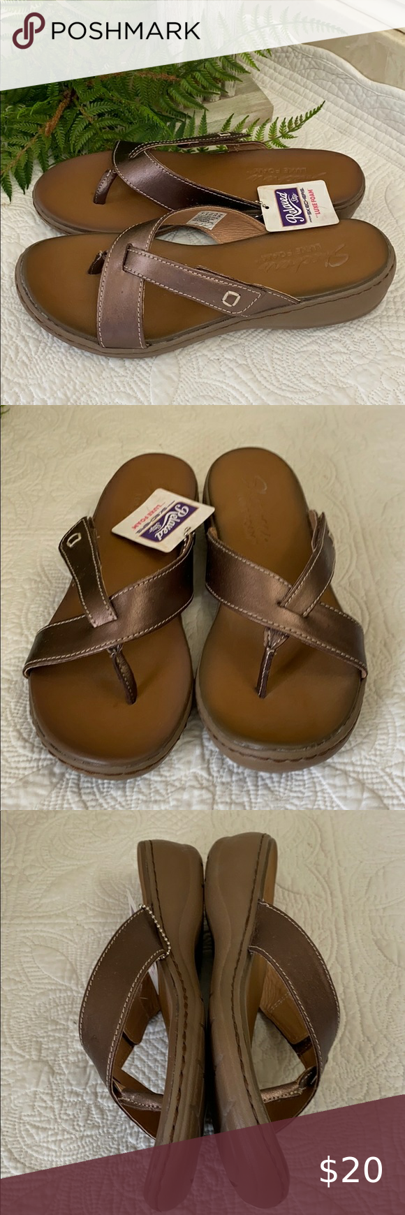 Bronze sandals, Skechers