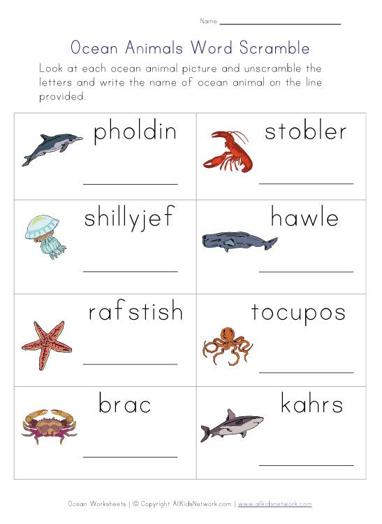 ocean word scramble worksheet Ocean Worksheets – Ocean Worksheets