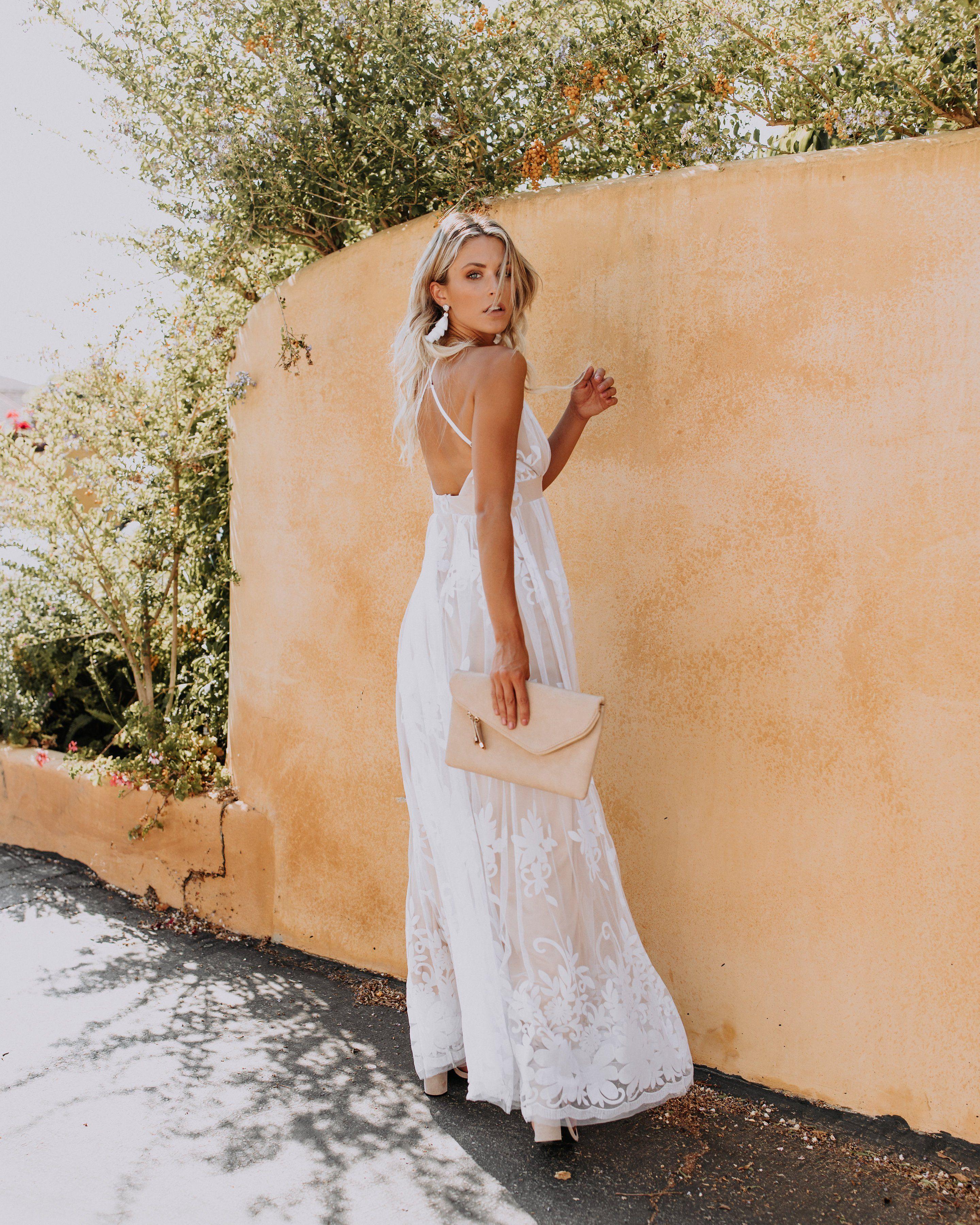 ce46b6b0ca3 PREORDER - Antonia Maxi Dress - White