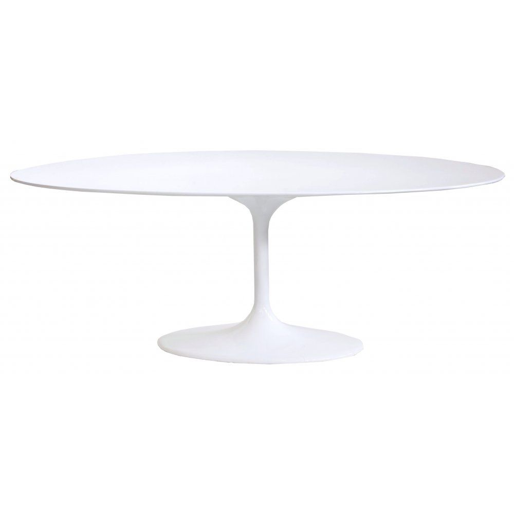 Eero Saarinen White Large Oval Tulip Style Dining Table
