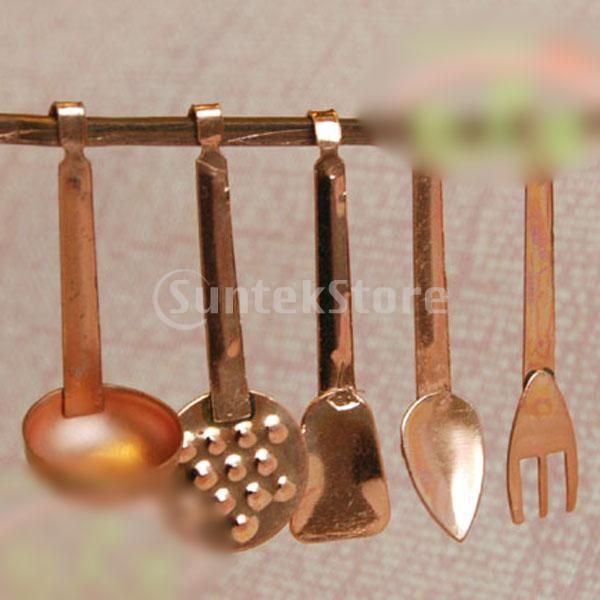Miniature Cooking Utensils 1:12 Scale Kitchen Miniatures Kitchen Cutlery Cooking