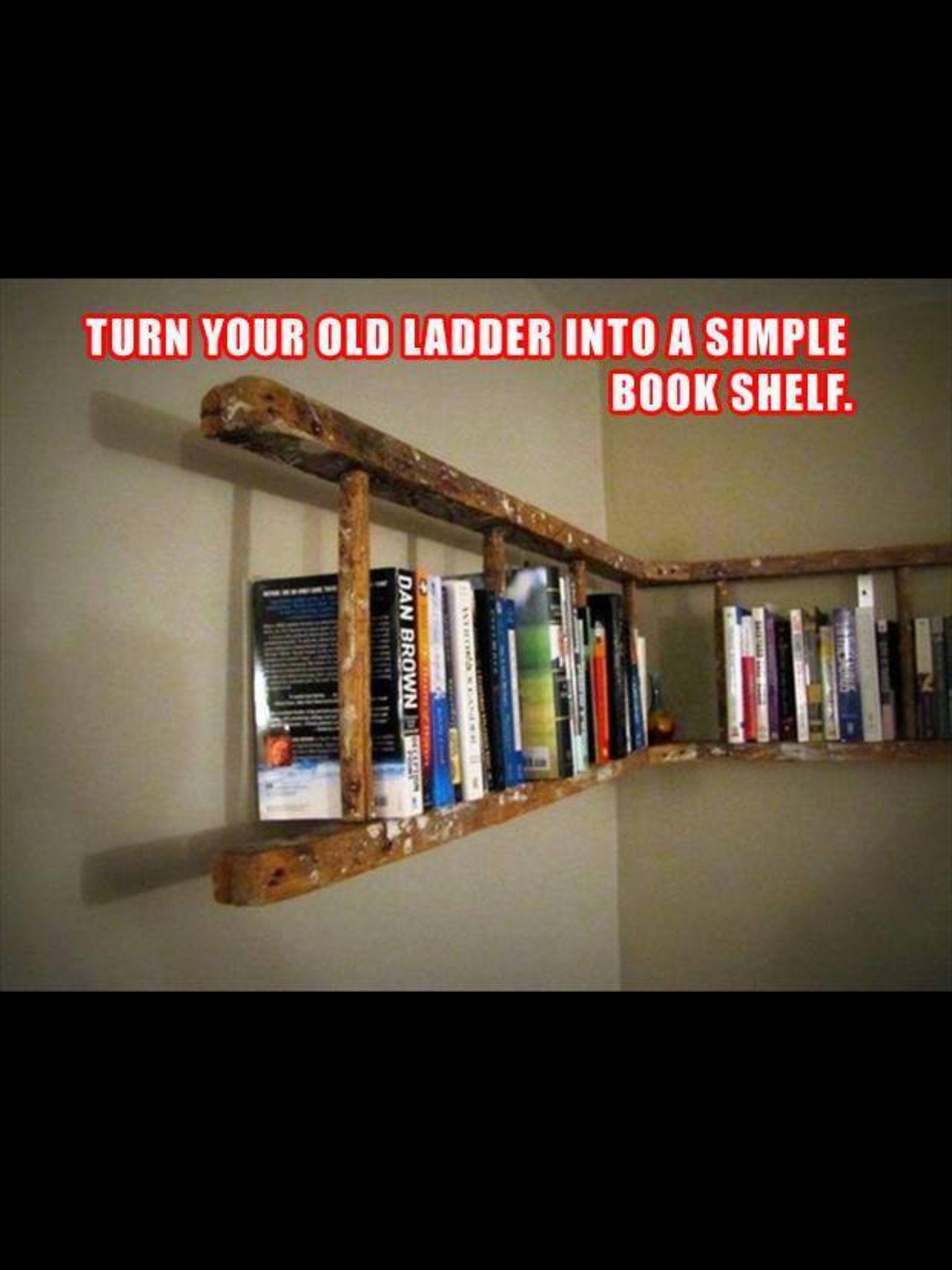 Ladder bookshelf for the home pinterest ladder bookshelf