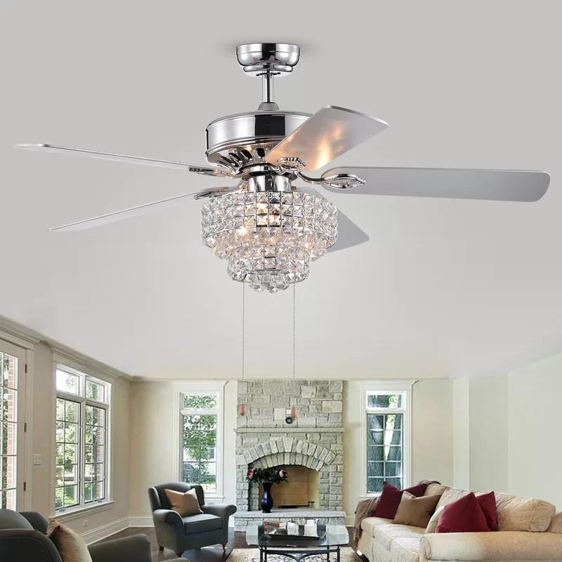 20 5 Scheid 5 Blade Ceiling Fan Light Kit Included In 2020 Ceiling Fan Ceiling Fan Chandelier Ceiling Fan With Light