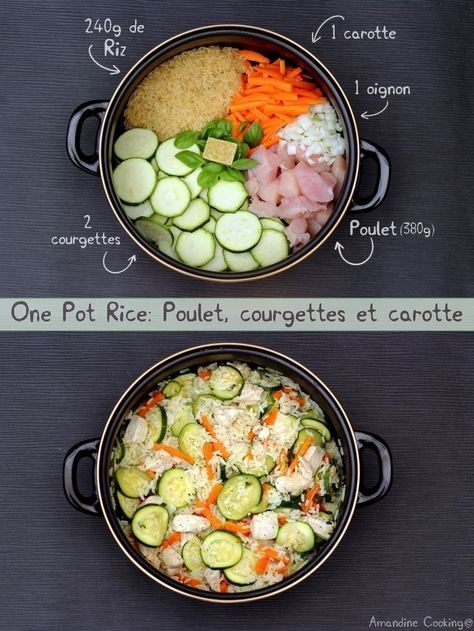 One pot rice: poulet, courgettes et carotte - Amandine Cooking #onepotpastarecettes