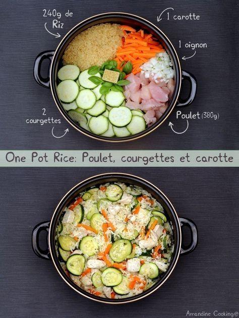 One pot rice: poulet, courgettes et carotte - Amandine Cooking #onepotpastarecettes