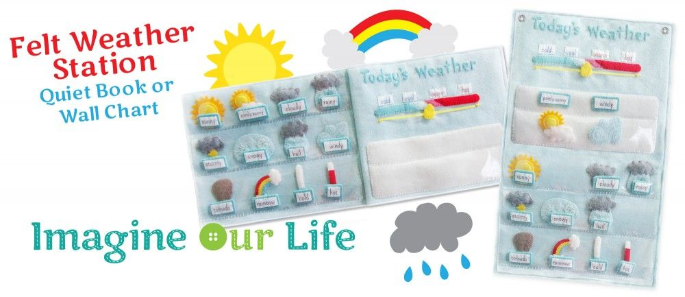 Felt Weather Station Pattern // Estación del tiempo de felpa  #parenting #craftsforkids #manualidades #manualidadesniños #kidscrafts #IdeasQueInspiran #KBN #kidsactivities #kidsactivitiescrafts #actividadesniños #kidsplay #felt #fieltro #feltcrafts #manualdiadesfieltro #diy #weatherstation #feltpattern #learnweather