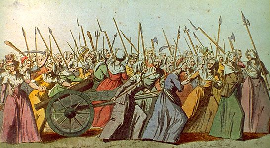 French Revolution Women S March On Versailles French Revolution