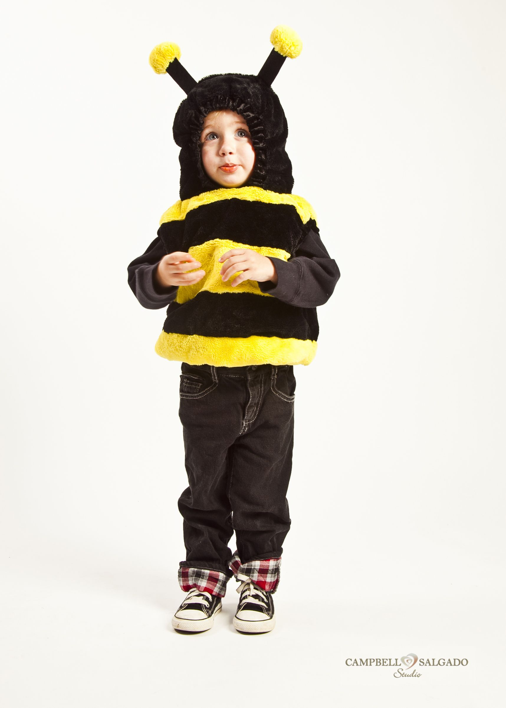 a toddler in a bumble bee halloween costume kinda takes the sting away doesnt it