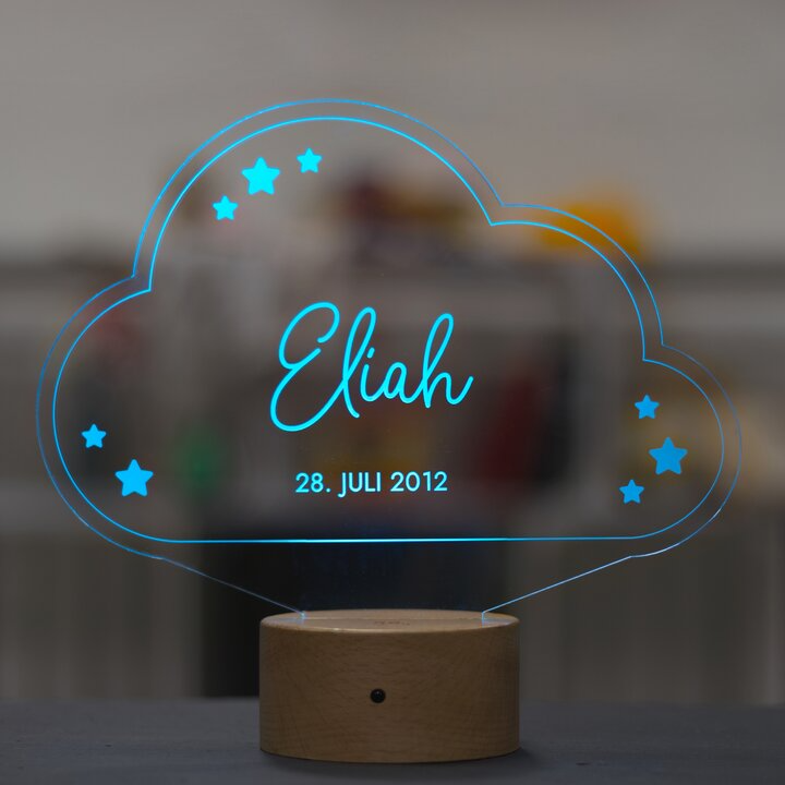 Led Kinder Nachtlicht Wolke 3d Effekt Laublust De Laublust Holz Niederrhein Geschenke Personalisiertegeschen In 2020 Nachtlicht Wolke Nachtlicht Neonschild