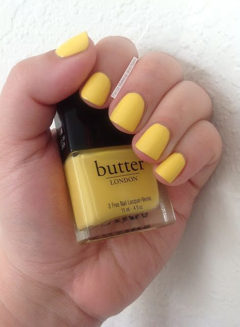 Butter London Cheeky Chops Swatched On Nail Stick Nail Polish