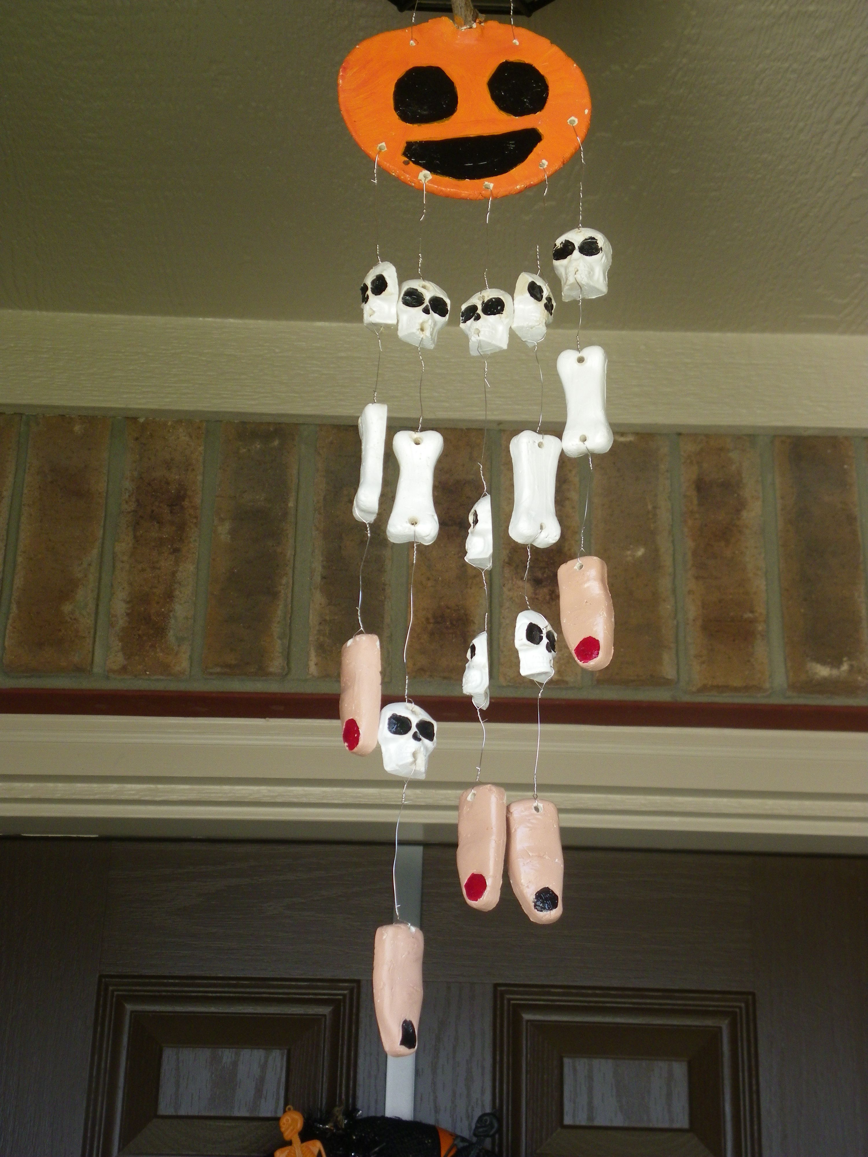 halloween wind chime