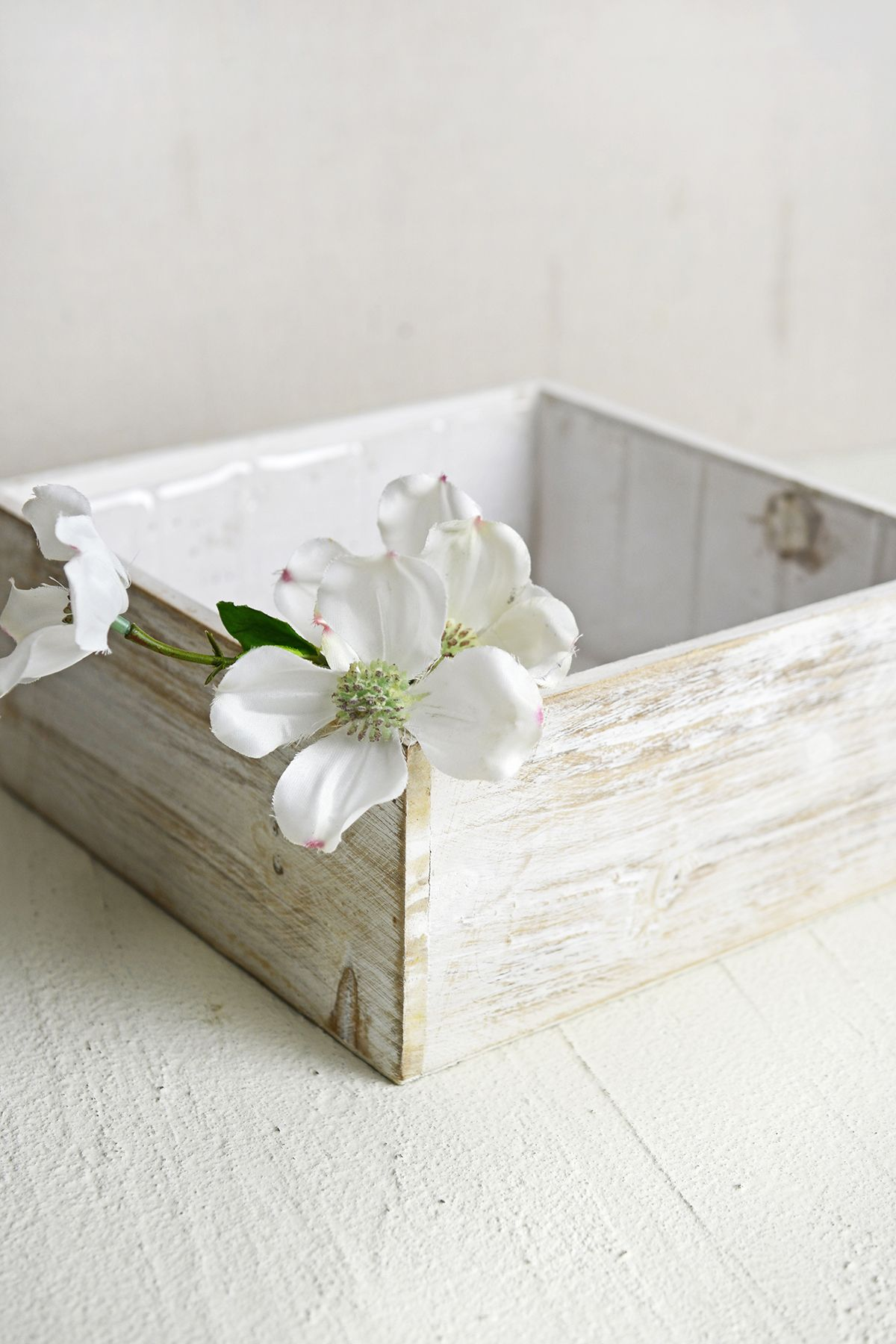 White Wood Square Planter Box 9x9 | White wood, Planters and Box