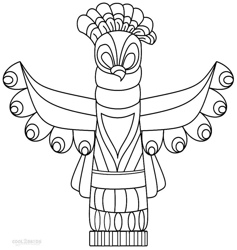 Totem Pole Coloring Pages Cool Coloring Pages Coloring Pages