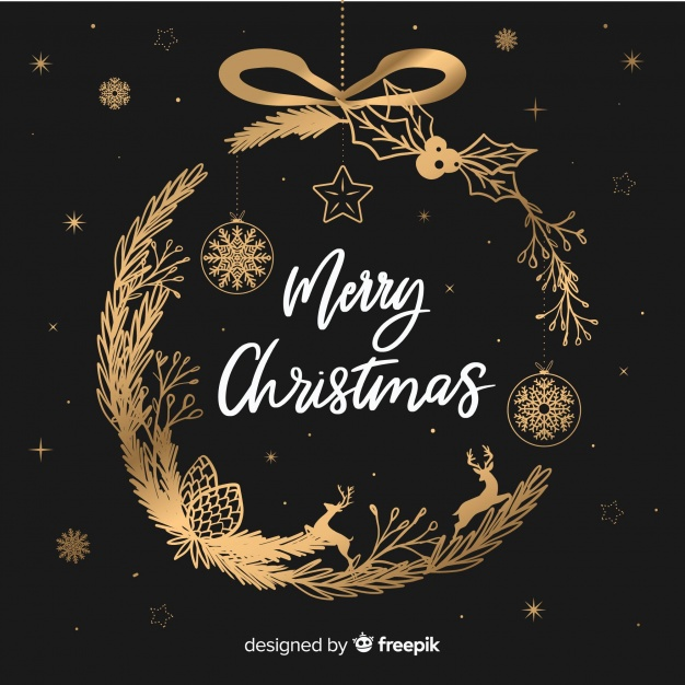 Download Christmas Wreath Background for free Merry