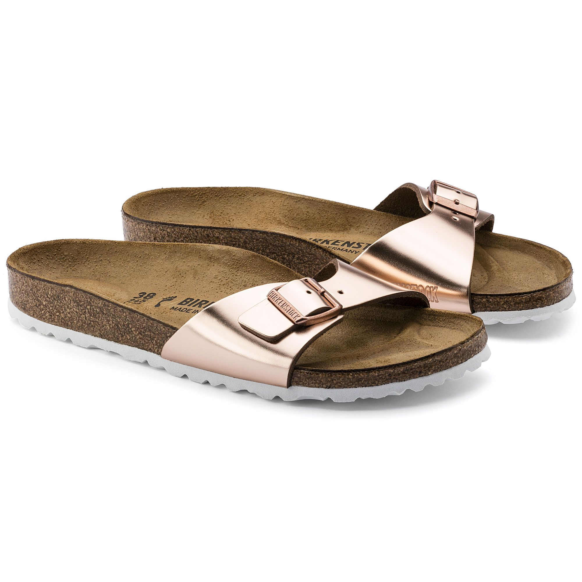 Madrid Leather Metallic Copper | Schuhe, Birkenstock madrid