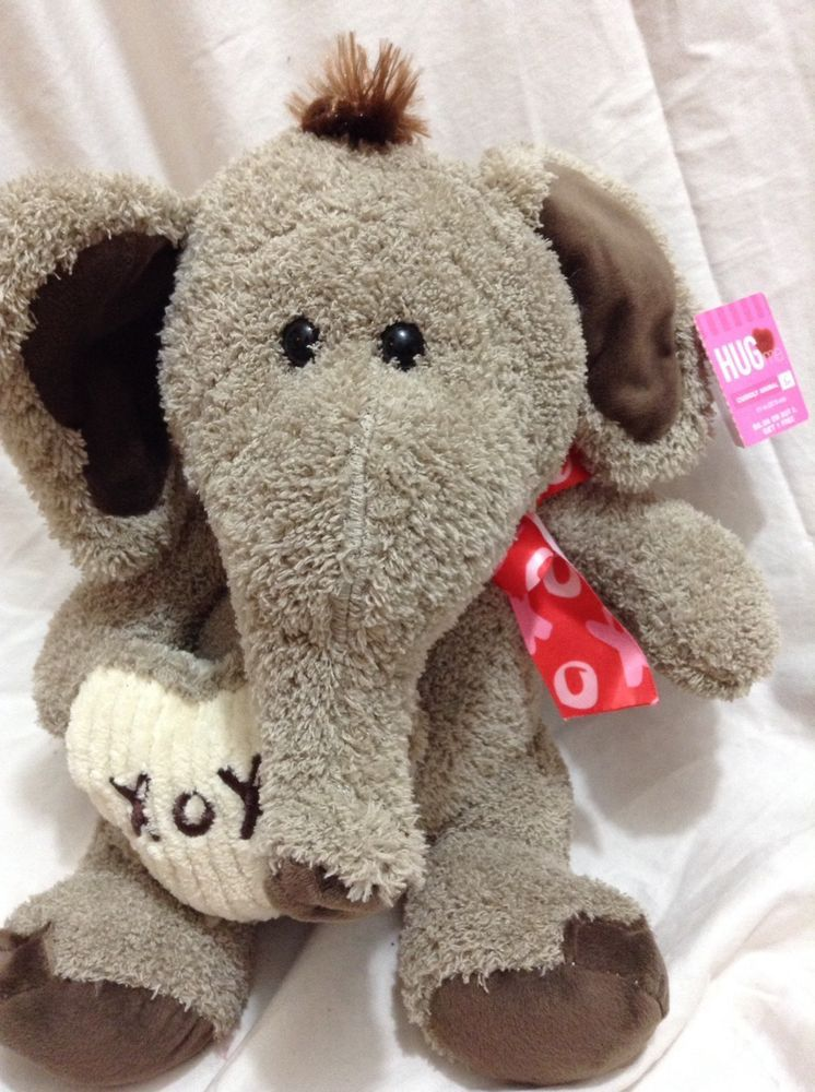 Kelly Toy Gray Elephant Plush Stuffed Animal Pink Red Heart Vday