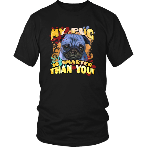 Pug T-shirt - My pug is smarter than you