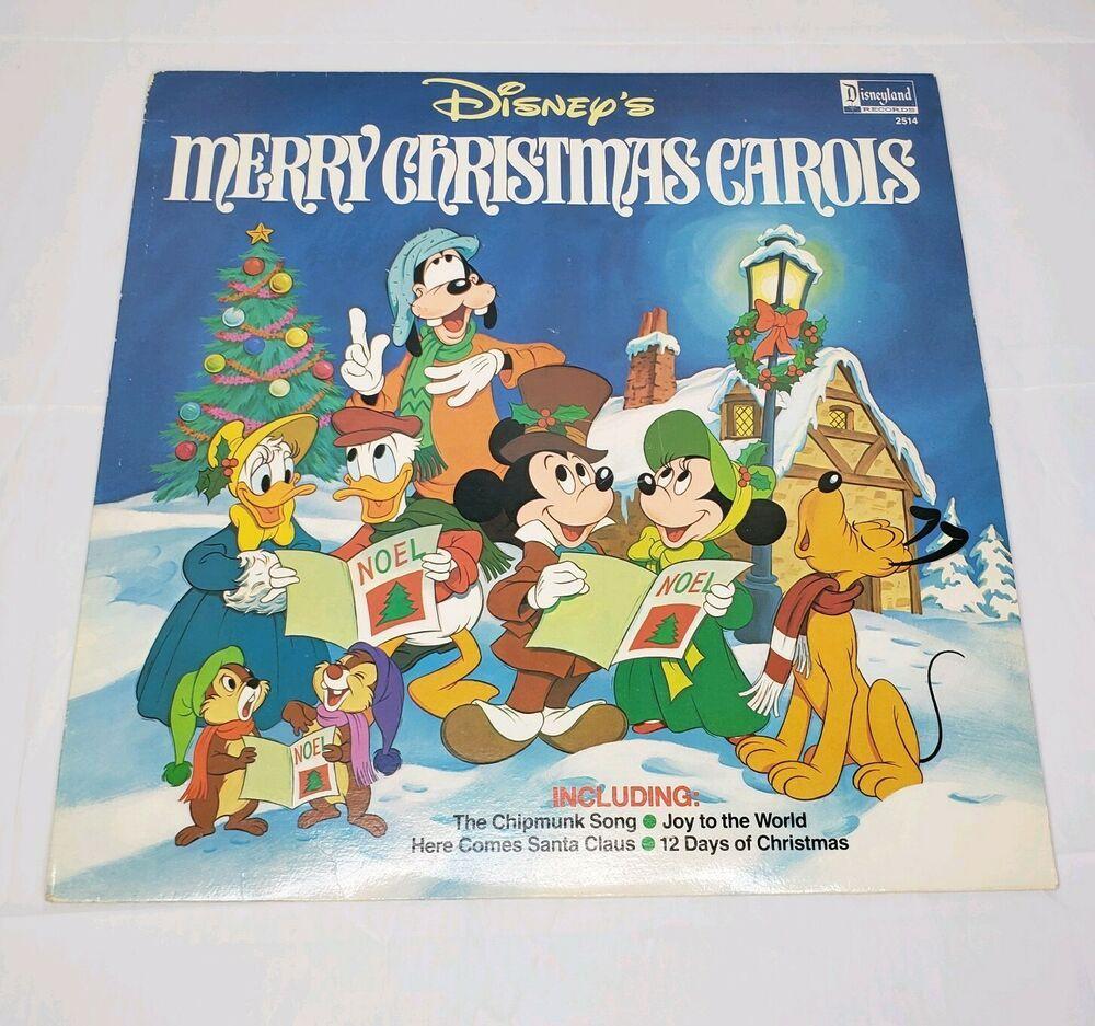 Disney's Merry Christmas Carols Vinyl Disneyland Records