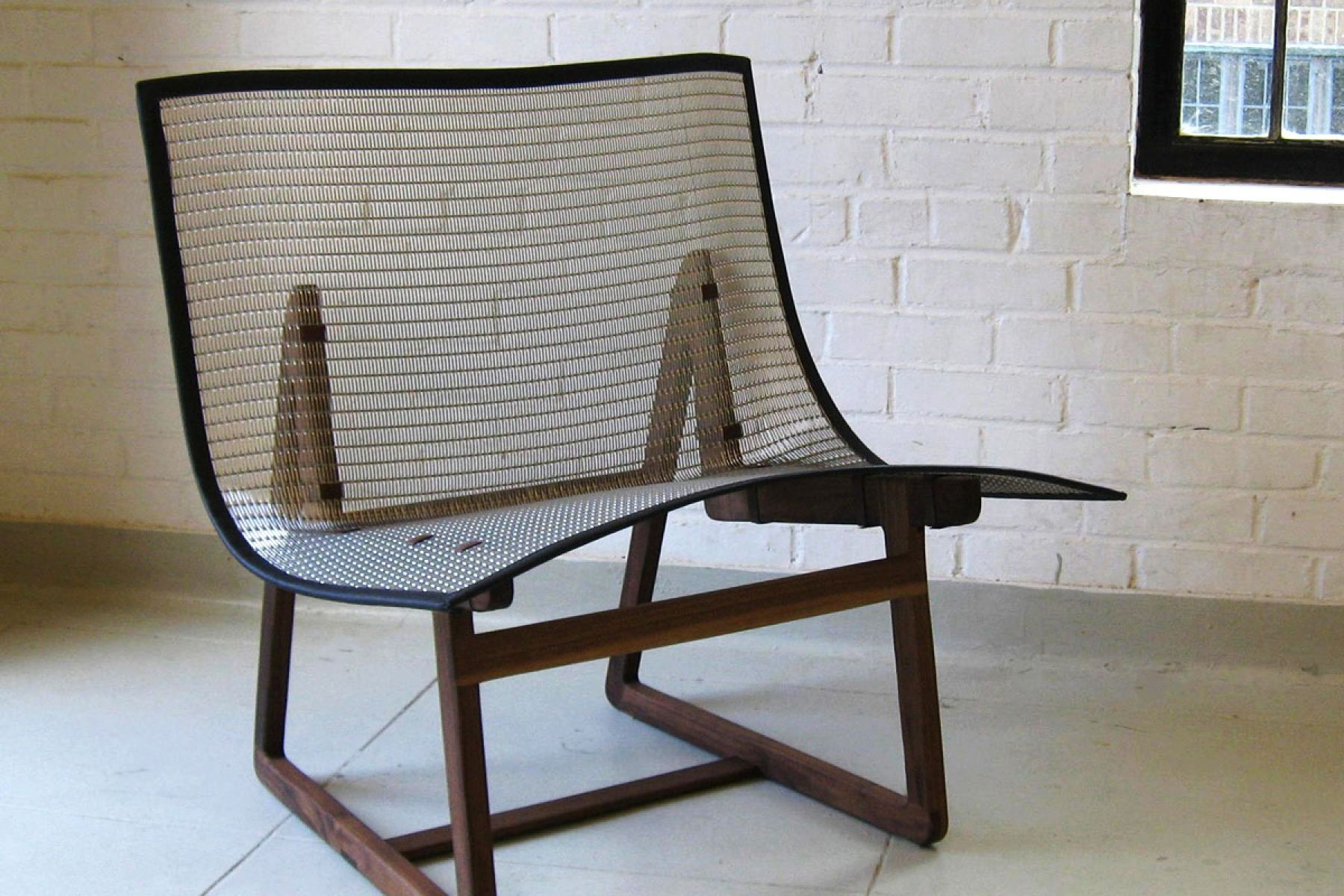 Delicieux Lounge Chair Woven Wire Mesh Chair | Banker Wire Project