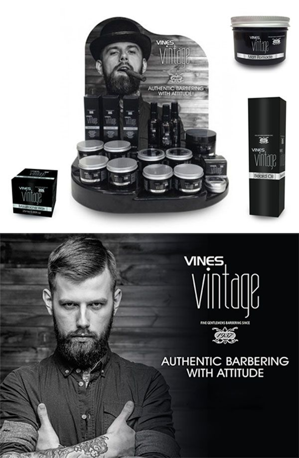 New Vines Vintage Men S Hair Styling And Shaving Products Moustache Wax Beard Oil Shave Vintage Hairstyles For Men Hair And Beard Styles Grease Hairstyles