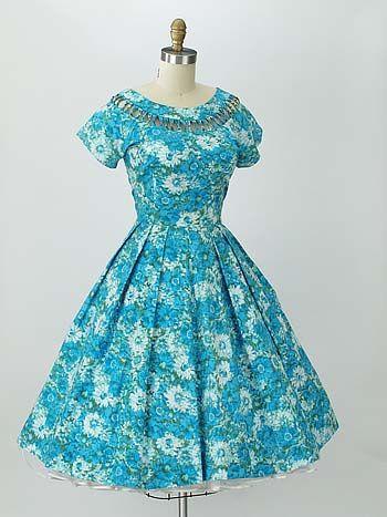 Blue vintage dresses