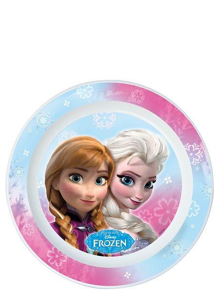 Ihana Frozen-lautanen sopii jokaisen pikkuprinsessan kattaukseen. Lautanen soveltuu myös mikroon. Mitat 22cm x 22 cm.