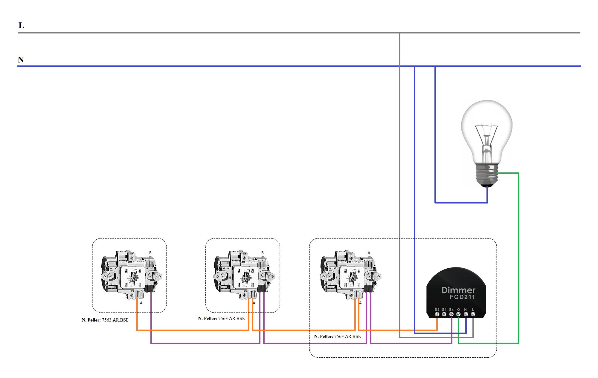 fibaro dimmer 2 wiring - Cerca con Google | Domotica | Pinterest