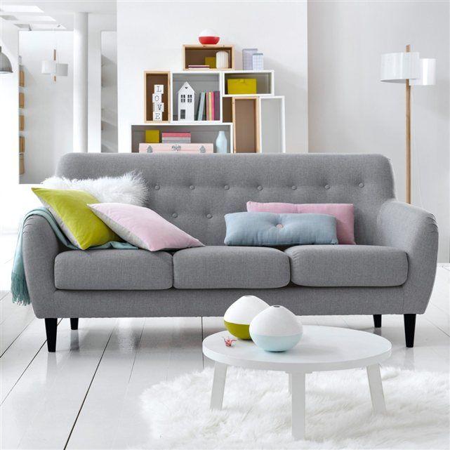 banquette vintage 3 places watford la redoute interieurs d co scandinave pinterest lieux. Black Bedroom Furniture Sets. Home Design Ideas