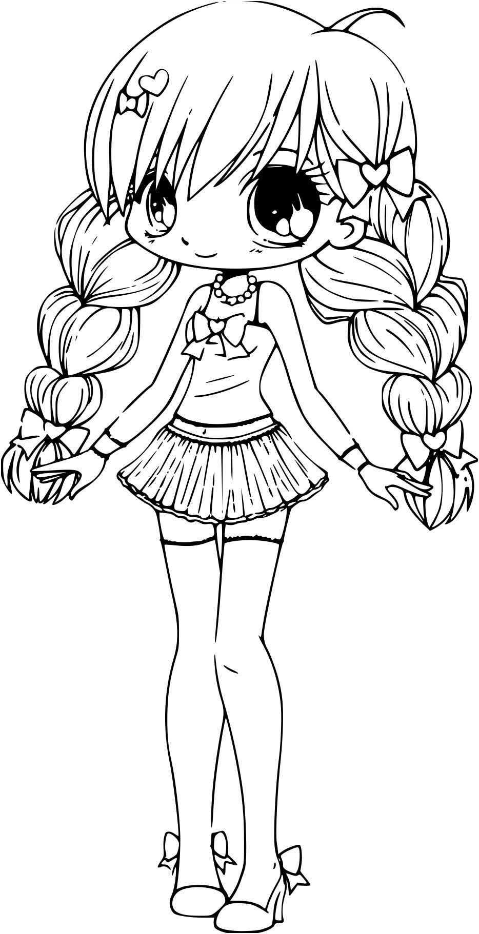 Coloriage Chibi princesse à imprimerColoriage à imprimer
