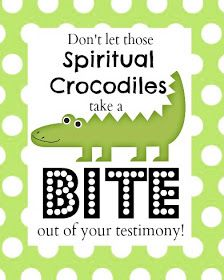 spiritual crocodiles family home evening everything lds