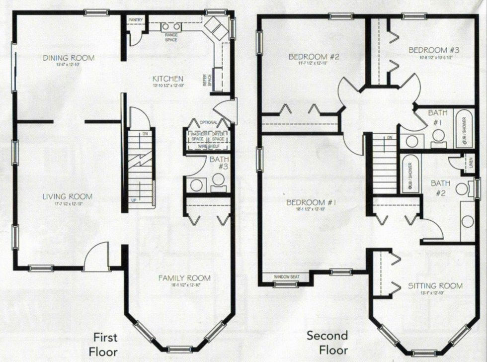 This is the 2 story 3 bedroom 3 bathroom house i want to for Eight bedroom house plans