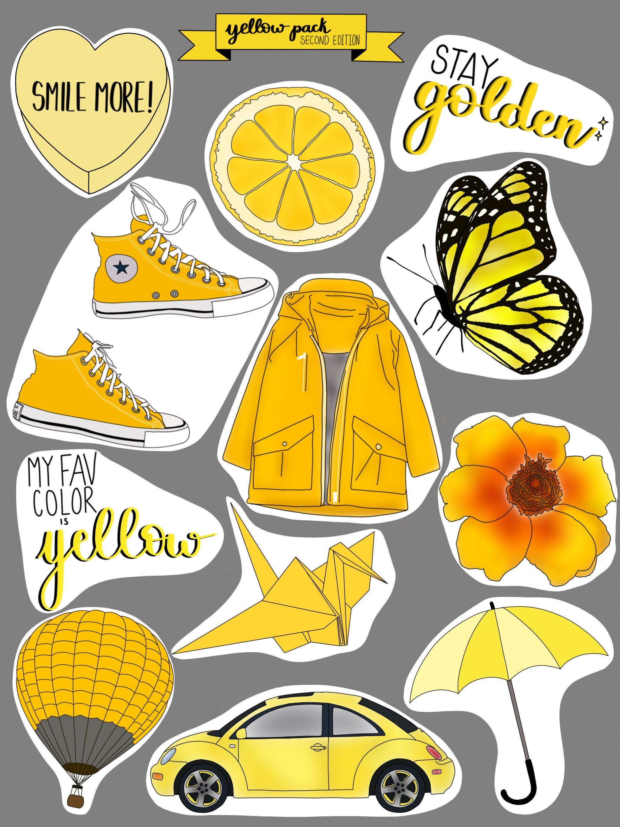 Aesthetic Phone Logo Yellow