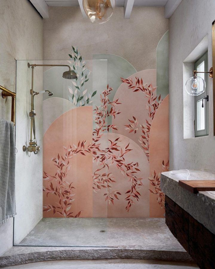 Is It A Good Idea To Put Wallpaper In The Bathroom Decoholic In 2021 Wall Deco Shower Design Bathroom Wallpaper