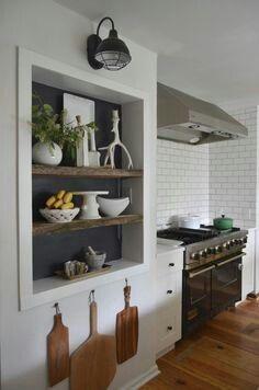 Etagere Encastre Dans Le Mur Niches Murales Cuisines Maison Murs De La Cuisine