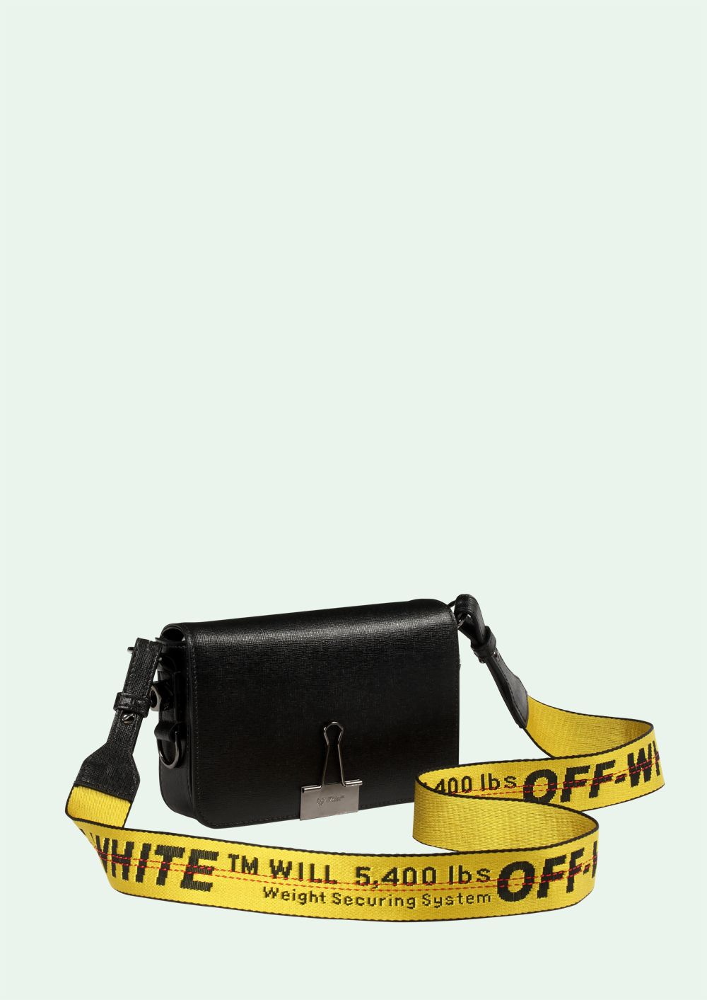f0ce144c5be8 OFF WHITE BLACK MINI BINDER CLIP bag