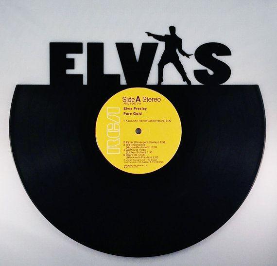 Recycled Vinyl Record ELVIS PRESLEY Wall Art | Elvis presley, Vinyl ...