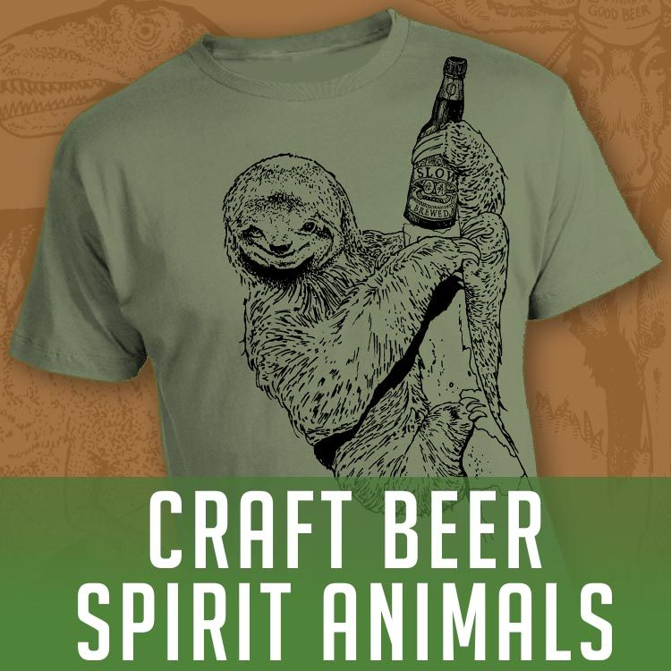 Amazon Com Brewershirts Mens Tops Spirit Animal Craft Beer
