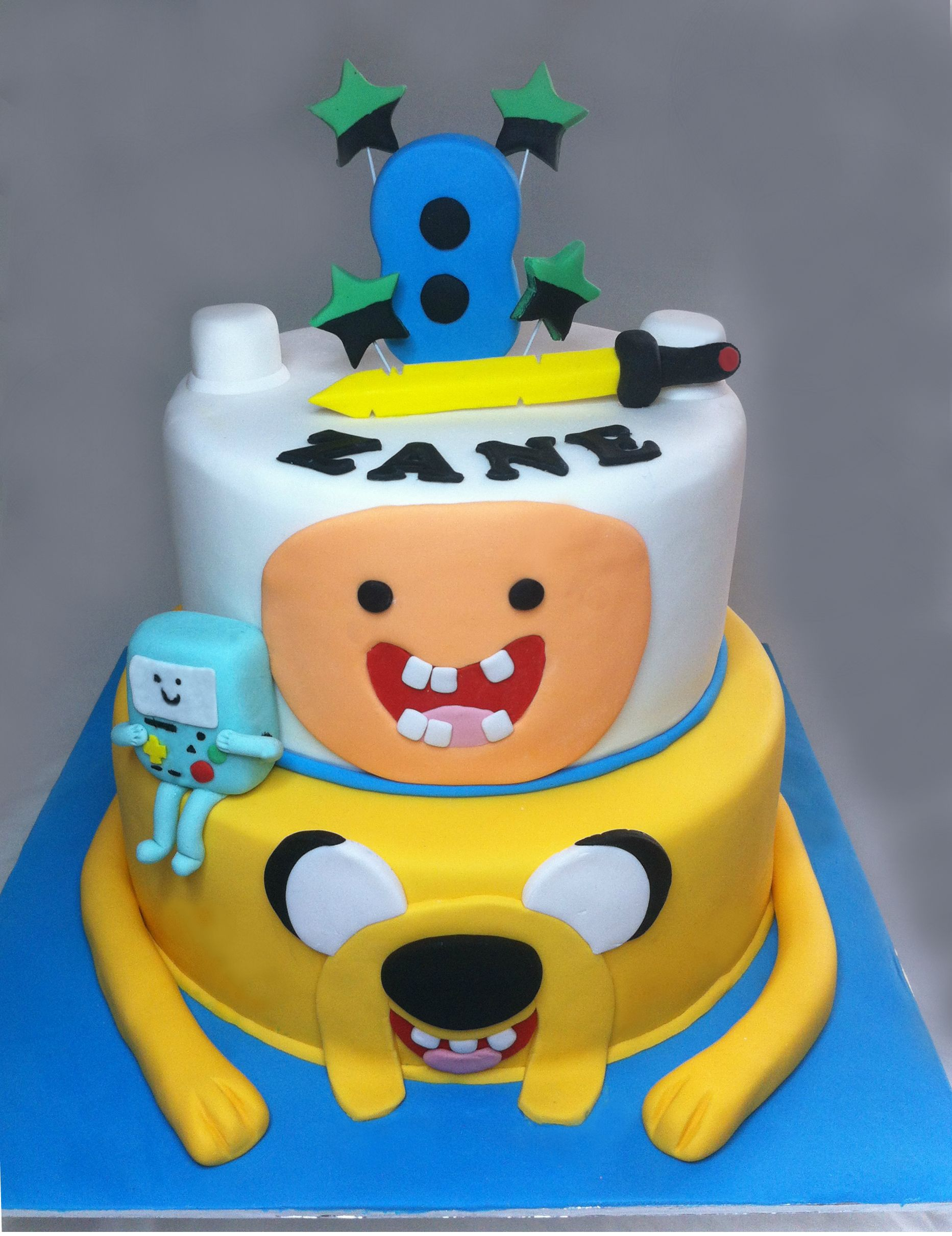Cartoon Network Adventure Time Cake 2 Tier with Finn the Human